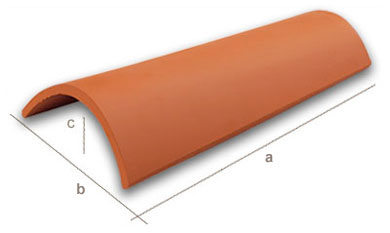 curved roof tile